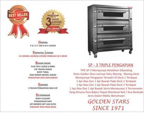 Jual Oven Gas Golden Star Pontianak Tlp 081321009900